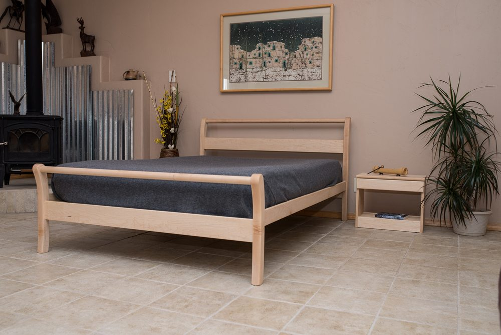 Twin Unfinished Sleigh Bed