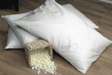 beds rubber soft shredded pillow organic sm outer is deluxe air products cover cotton mountain nos pillows