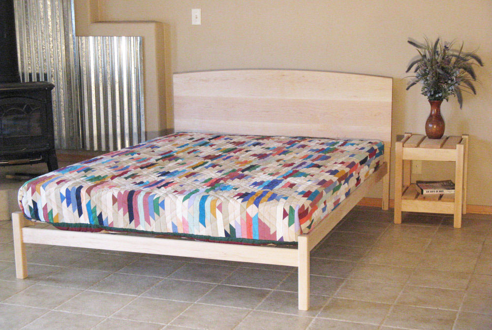 Natural Bed Frames by Pacific Rim, Nomad, and Bedworks of Maine