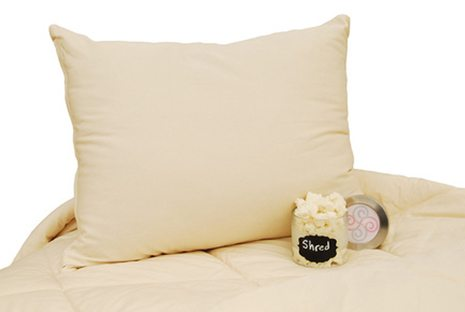 Shredded Rubber Pillow By Suite Sleep