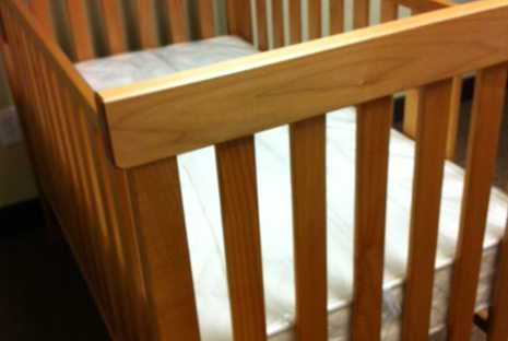 Natural Crib By Pacific Rim Made With Solid Maple Or